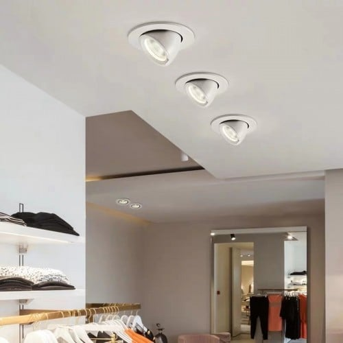 30W Architectural Commercial Dali Dimmable Recessed COB Adjustable Led Spotlights Ceiling